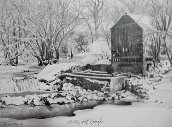 """The Mill in Winter"""